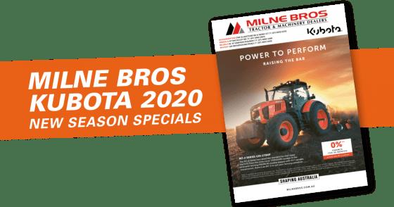 Milne Bros Kubota Catalogue 2020
