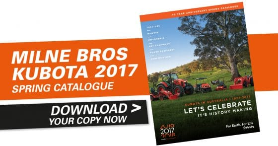 Milne Bros Kubota 2017 Spring Catalogue