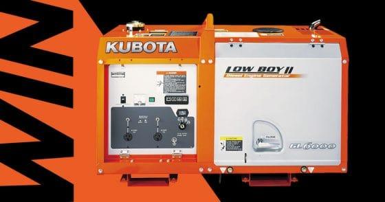 Win a Kubota GL6000D Generator